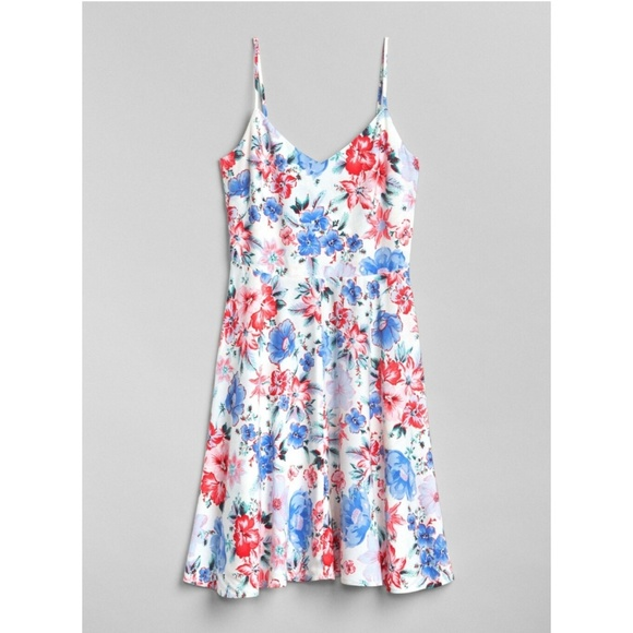 GAP Dresses & Skirts - Gap Floral Fit and Flare Cami Dress 223838 Petite